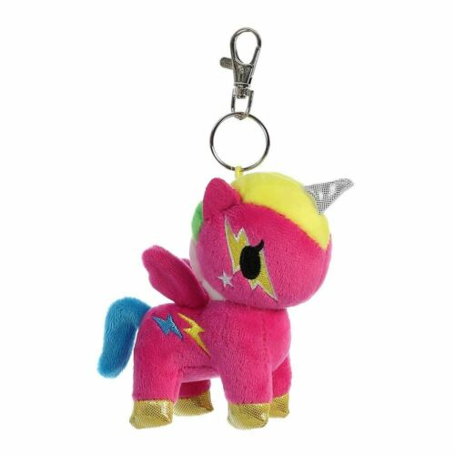 "Plush Soft Toy Bag Clip 4.5/"" Tokidoki Comet Unicorno Keyring Keychain"