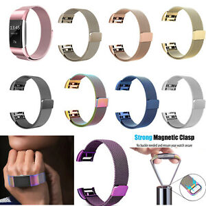 Milanese-Loop-Band-For-FitBit-Charge-2-2HR-Stainless-Steel-Magnetic-Band-Strap