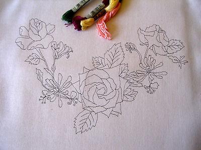 Tote bag printed to embroider King Bear British  English Teddy Eco Calico cotton