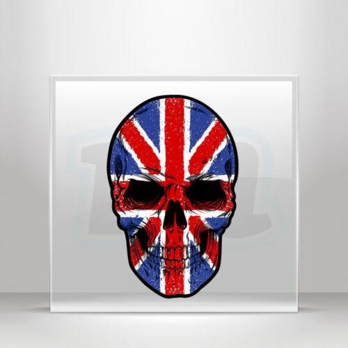Sticker Decals skull Uk English flag Helmet Atv Bike Garage A19 3W9W8