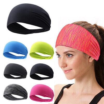 Frauen Männer Sport Schweiß Schweißband Stirnband Yoga Gym Stretch Haarband