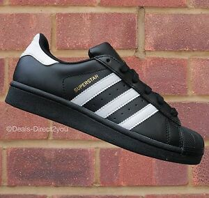 Adidas Superstar Womens Size 6 Black And White