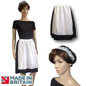 Adult Ladies Victorian Maid Skirt And Headband Be Our Guest Dance Costume Uk Ebay