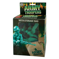 48 ARMY TROOPERS - 10492 PLASTIC TOY SOLDIERS & STORAGE BAG STORY TROOP FIGURE