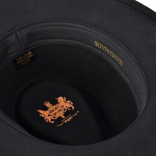 Uomo o Donna 100/% Lana Fedora Cappello con Grosgrain Fascia di Feltro Panama
