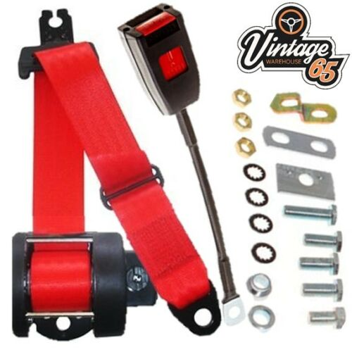 Bmw 1502 1600 1602 1802 /& 2002 Coupe 1966 76 Front Automatic Seatbelt Kit Red