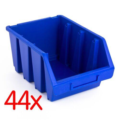 159631 44x Sichtlagerkästen Sichtlagerkasten Lagerbox Sichtbox Box blau 23395