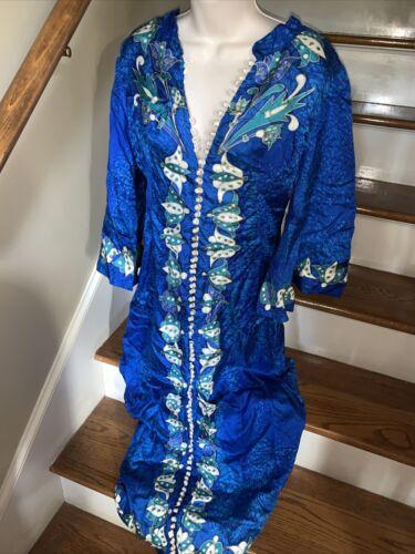 Dashiki blue Vintage Kimono 👘 African Tribal Chin