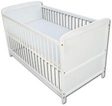 Babybett Kinderbett Juniorbett 2 in1 Umbaubar 140x70 Weiß Neu