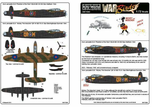 Kits-World Zeichen 1/72 Avro Lancaster B.III #72092