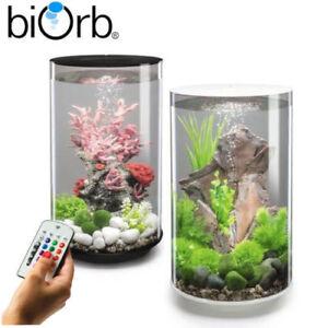 Biorb Tube 15 30 MCR LED Colour Change Clear Black White Aquarium Fish Tank