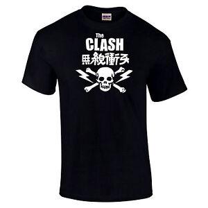 The-Clash-Japan-Skull-amp-Bones-Retro-Vintage-Style-Unisex-T-Shirt