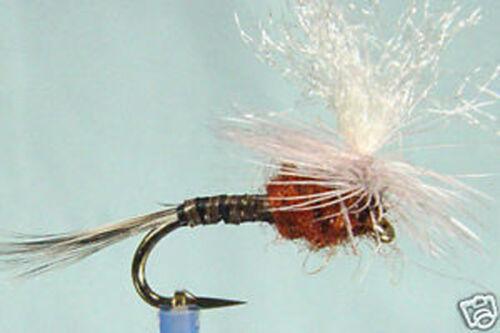 1 x Mouche de Peche Sèche Quill parachute H12//14//16 dry fly fishing trout