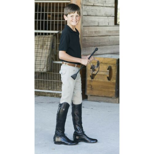 Different Sizes Ovation Boy/'s EuroWeave 4-Pocket Breeches Show Tan
