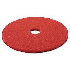 "Red 19/"" Diameter 3M Low- Speed Buffer Floor Pads 5100 5// Carton"