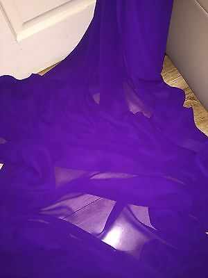 """3 MTR QUALITY LILAC COLOUR CHIFFON FABRIC...45/"""" WIDE £7.49 SPECIAL OFFER"""