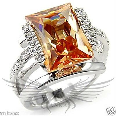 Brilliant 3.0ct Oval Cut Cubic Zircon CZ AAA Engagement Ring 5 6 7 8 9 10 6X114