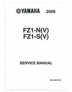 yamaha service manual 2006 fz1 fazer fz1 n v fz1 s v ebay rh ebay com yamaha fz1 service manual download yamaha fz1 workshop manual pdf