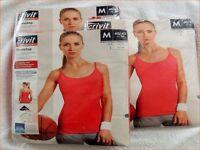 3 Stück Damen Fitnesstop Gr.m (40-42) Top Training Damenmode Pink (64)