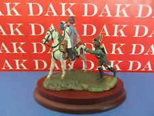 Diorama di Napoleone a cavallo 54 MM con base in legno