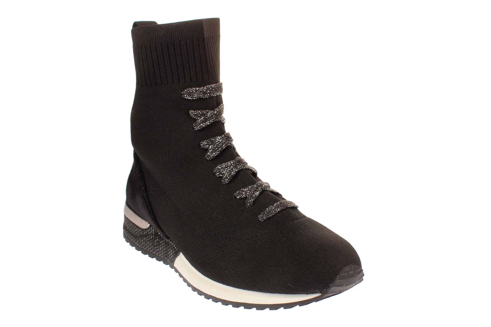 La strada 1717154-Donna Scarpe Stivali scarpe da ginnastica Per Il Tempo Libero Scarpe-Knitted-nero