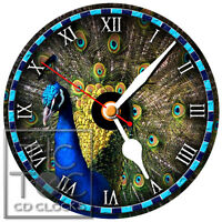 S-900 Cd Clock-peacock-desk Or Wall Clock-fast Free Shipping-buy It Now