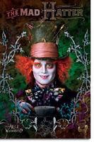 Disney Alice In Wonderland Johnny Depp Mad Hatter Poster Print 22x34 Free Ship