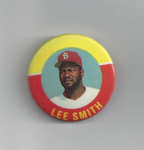 1992-Lee-Smith-St-Louis-Cardinals-button-1-1-2-034-pin-MINT-Hall-of-Fame-HOFer