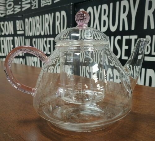Fellini Classique Glass Teapot with InfuserPink Colored40 oz1200ML