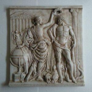 Hercules Fat Greek wedding Kamin Stuck gips Relief Groß Griechenland ...