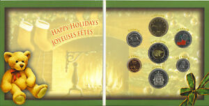 Canada-2005-7-Coin-Holiday-Gift-Set-with-Colored-Stocking-Quarter