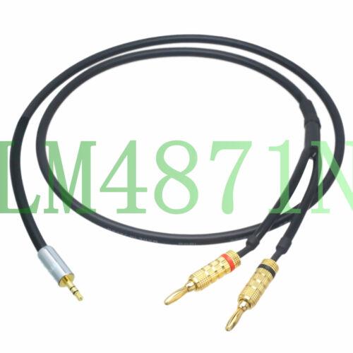 "3.5mm 1//8/"" male TRS to 2x dual banana plug CANARE DIY Y Unbalanced Leads L2T2S"