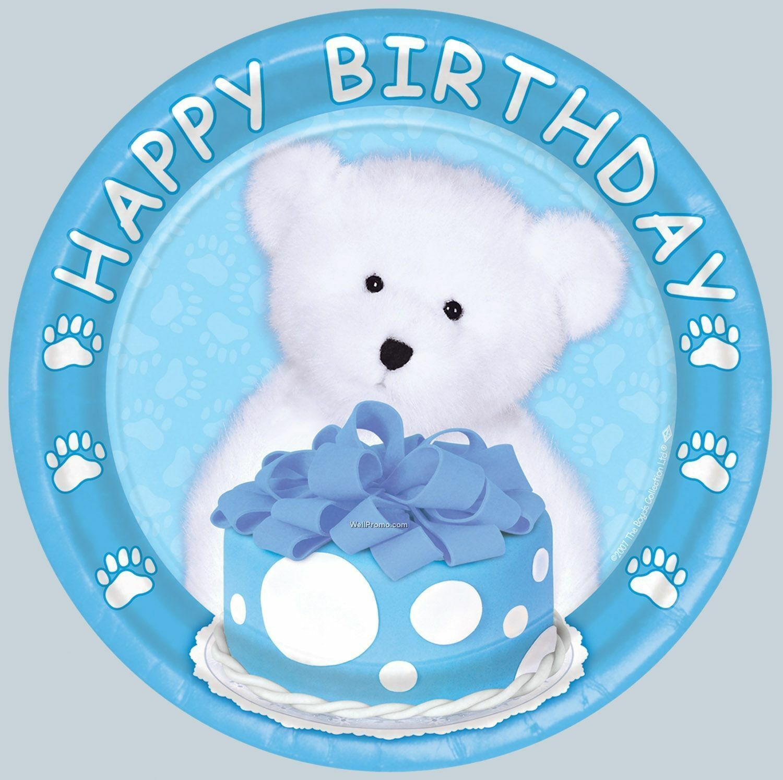 Boyds Bears Happy Birthday Blue Boyds Bears 9 inch Dinner Plates #58002b