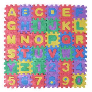 36Pc Baby Children Kids Play Mats Alphabet Number Soft Foam Floor Pad Puzzle Toy 727955533512