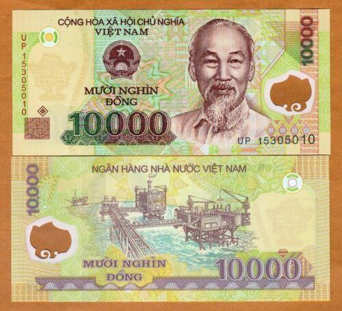 2015 10,000 UNC Vietnam 10000 P-119i dong Polymer
