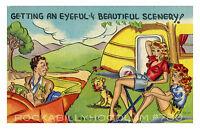 Pin Up Girl Poster 11x17 Vintage Post Card Art Trailer Park Cuties