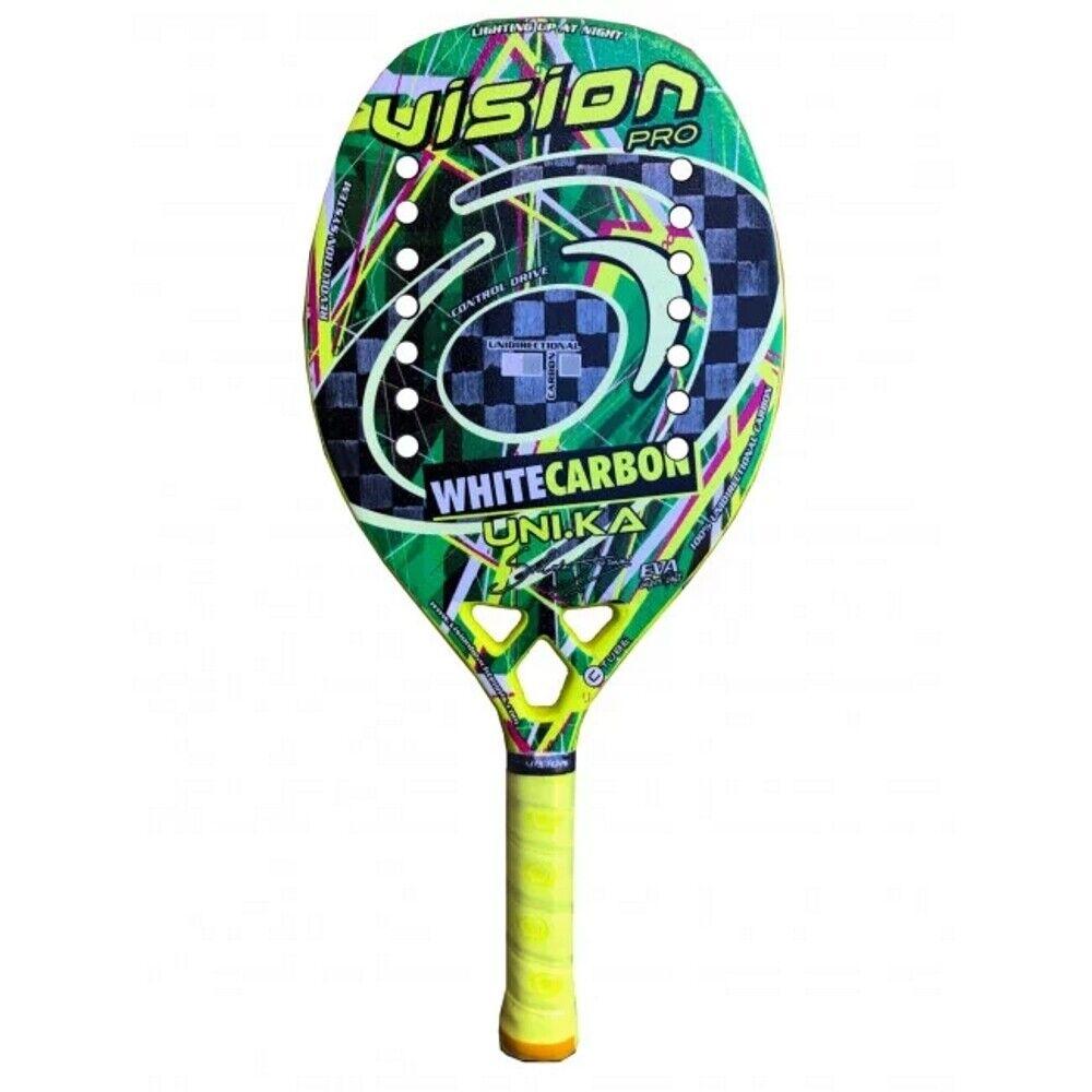 Schläger Beach Tennis Racket Vision Weiß Kohlenstoff 2020 Geschenkidee