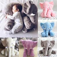 Elefant Puppe Kissen Weich Plüsch Baby Kinder Spielzeug Lendenkissen Geschenk