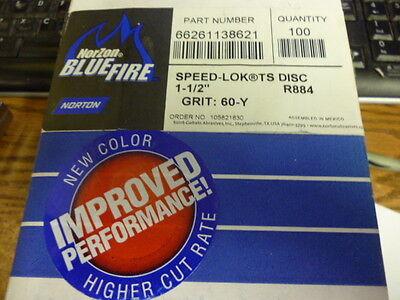 TR Zirconia Alumina Grit 50 Pack of 25 Norton R884P BlueFire Speed-Lok Abrasive Disc 3 Diameter Cloth Backing