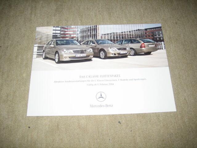 Mercedes C-Klasse Limousine W203 Preisliste price list vom 09.02.2004 gelocht