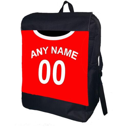 Manchester United Ajouter Nom Et Numéro Personnalisé École COLLEGE Sac à dos