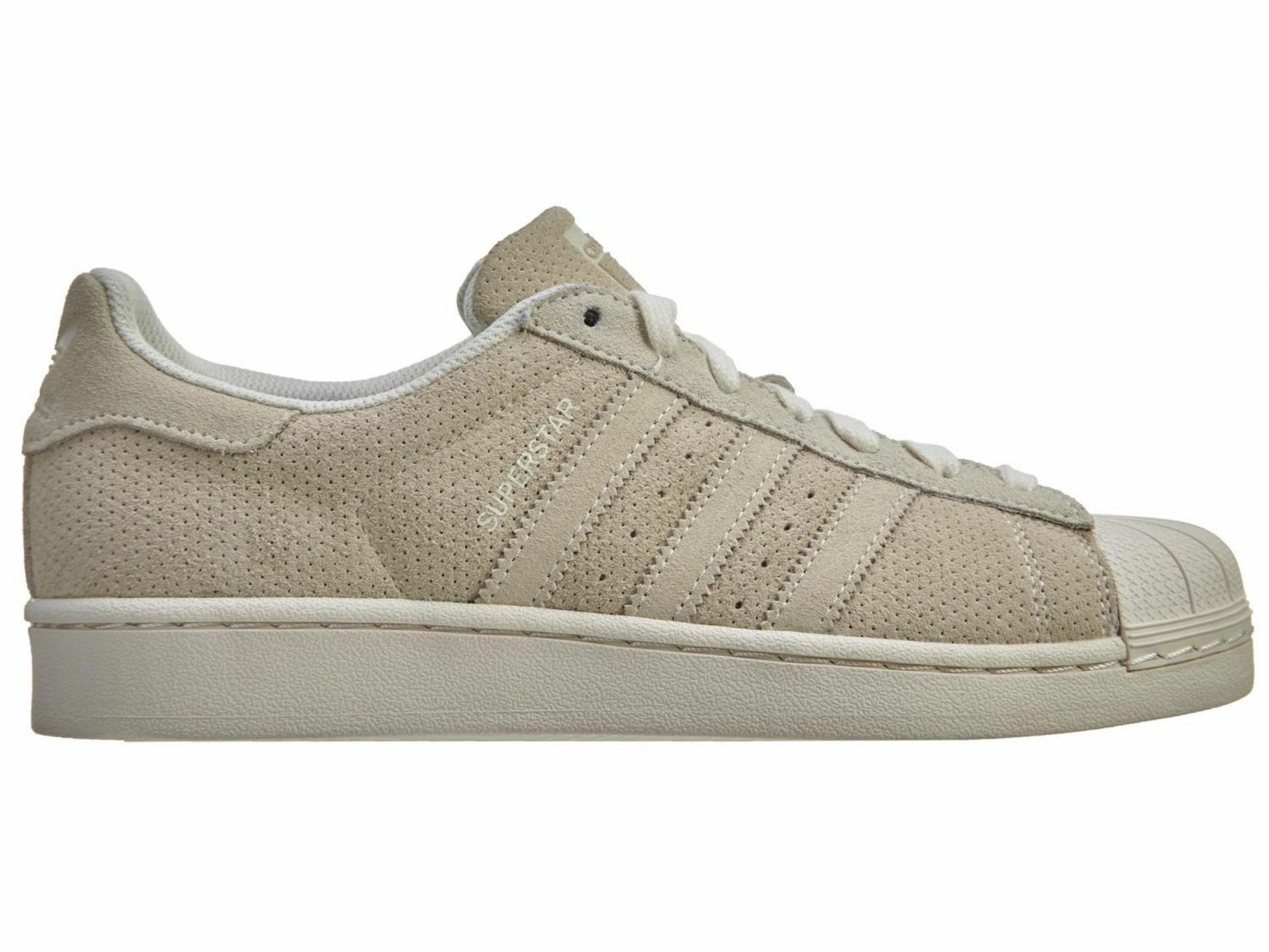 Adidas Superstar RT Uomo S79477 Chalk White Suede Perforated Shoes Size 13