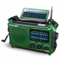 4-way Powered Emergency Weather Alert Radio With Cell Phone Charger - Green on sale