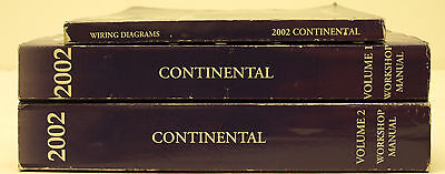 OEM 2002 Lincoln Continental Workshop Manuals & Wiring ...