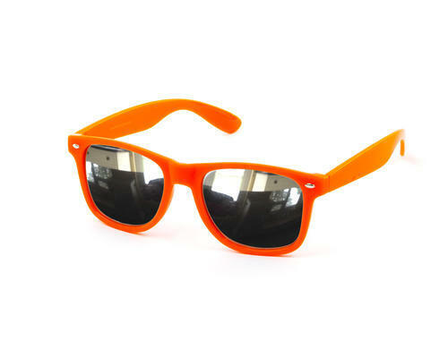 Neon Orange Fashion Festival Wedding Sunglasses Mirror Mirrored Mens Womens New