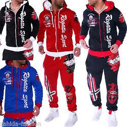 Herren Jogginganzug Trainingsanzug Norwegen Hose Jacke Sport Damen Fitness [A.4]