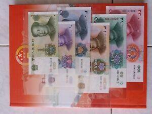 China-6pcs-Banknote-1-5-10-20-50-100-Yuan-1999-Series-Last-4-No-Same-1406-Rare