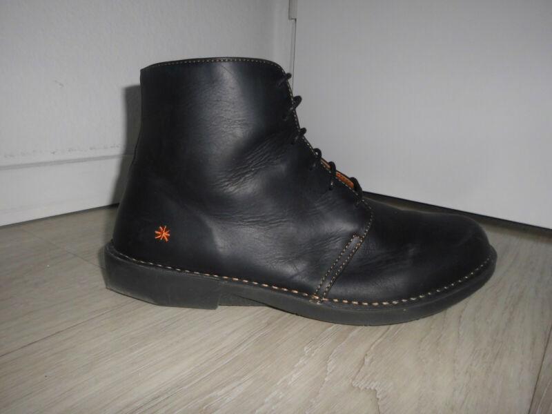 Begeistert Art Boots 41 Stiefel Np 179 Eur Stefeletten Echtleder Schwarz