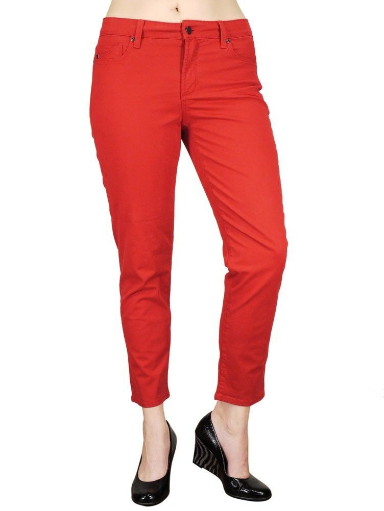 NWT NYDJ Not Your Daughter's Jeans Crimson Red Alisha Ankle Slimming Jeans 14