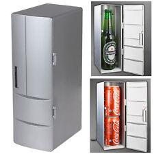 Mini USB LED PC Refrigerator Fridge Beverage Drink Cans Cooler Warmer Sliver New
